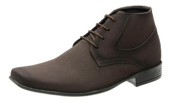 Sapato Casual Social Masculino Couro Nobuck Barato