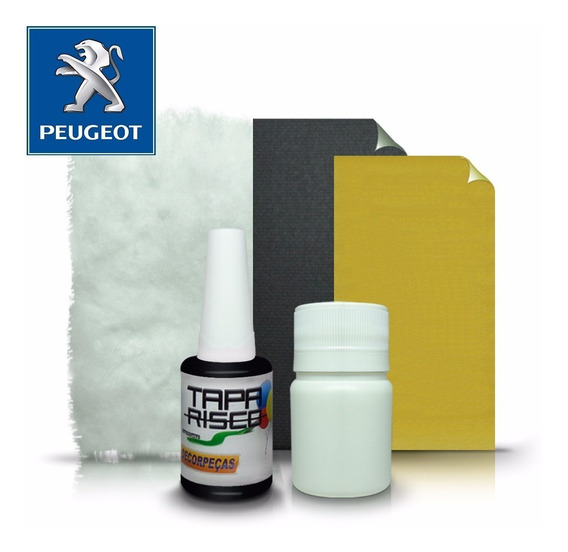 Tinta Tapa Tira Risco +kit Polimento Peugeot Preto Absidiana