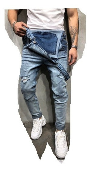 Jumpsuit Hombre Overol Jeans Skinny Meclilla Caballero