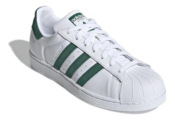 Tênis adidas Superstar Branco Com Verde
