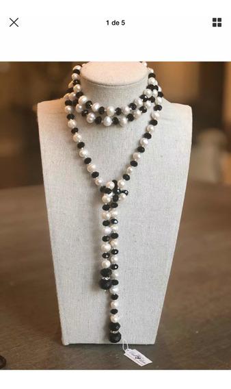 Collar Largo Perlas De Agua Dulce
