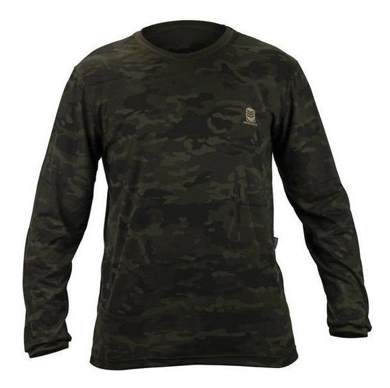 Camiseta Camuflada Manga Longa Pesca Caça Exercito Multicam