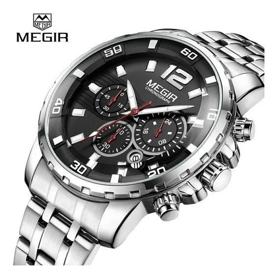 Relógio Masculino Megir 2068 Luxo Original Prova D