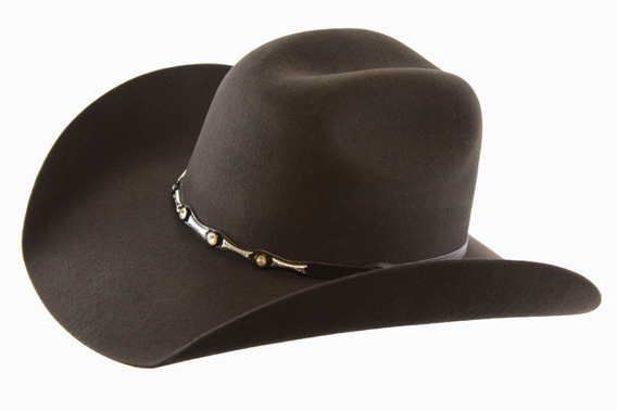 Sombrero Texana Goldstone Toro Choco 100% Lana.
