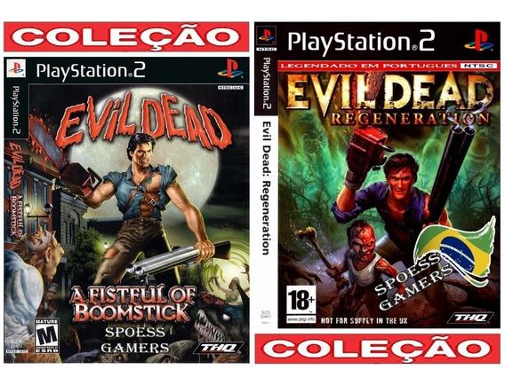 Evil Dead Ps2 1 E 2 Português Coleção (2 Dvds) Patch Terror