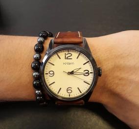 Relógio H Stern Pulseira Couro Cor Madeira