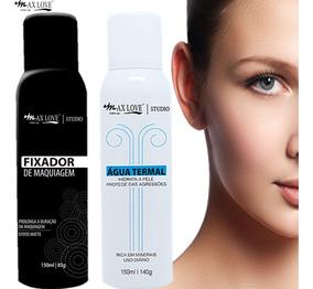 Kit Agua Termal + Fixador De Maquiagem 150 Ml Max Love