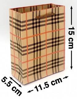 Bolsas Kraft Economica Regalo Impresa #3 11.5x15cms
