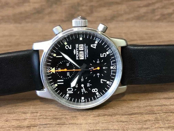 Fortis Pilot Professional Black Dial Chronograph 40mm Daydat