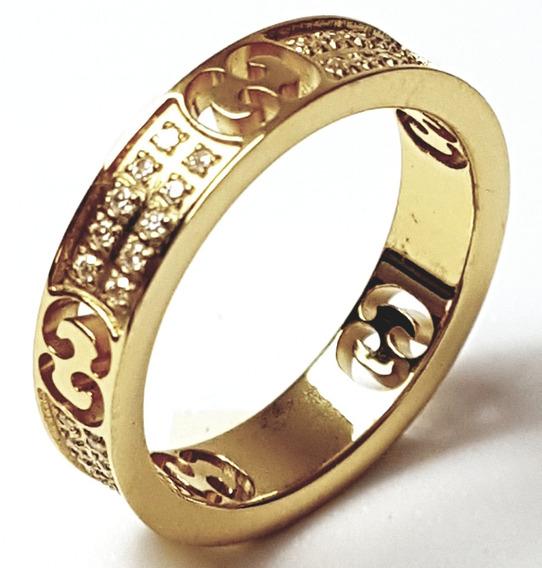 Anillo Dama Chapa De Oro 18k Logo Troquelado + Envio Gratis
