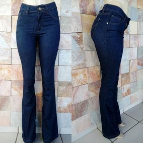 67eeba918 Calça Azul Risca De Giz Feminina - Calças Jeans Feminino no Mercado ...