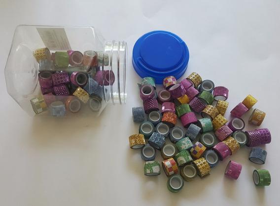 2 Potes Kit Fita Adesiva Decorada P/ Artesanato E Decoração