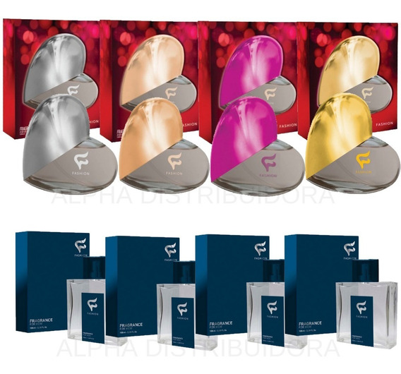 6 Perfumes Masculino + 6 Feminino Fashion Cosméticos Oferta