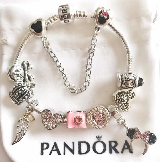 Pulseira Estilo Pandora Completa Disney