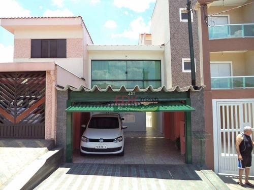 Imagem 1 de 30 de Sobrado Com 5 Dormitórios À Venda, 200 M² Por R$ 742.000 - Paraíso - Santo André/sp - So2487