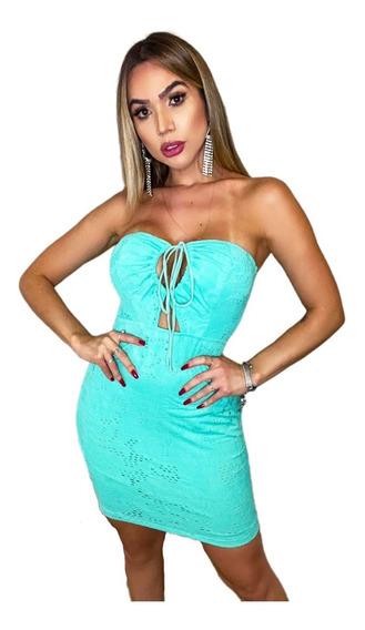 Vestido Tubinho Curto Feminino De Alcinha Laise + Brinde65