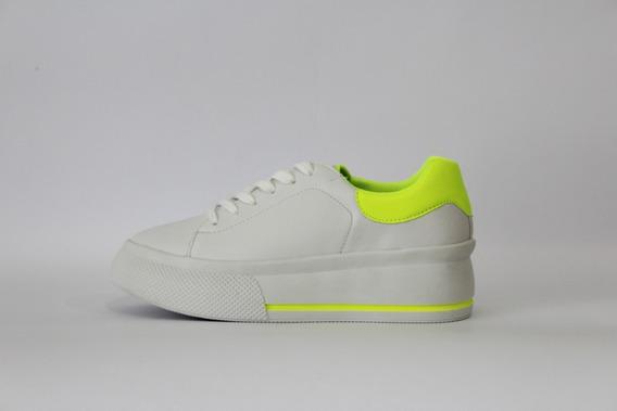 Zapatillas Mujer Blancas 47 Street Dash Eco Cuero Cordon