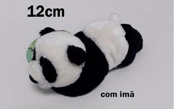 10 Mini Urso Panda 12cm De Pelúcia Delicado Presente Com Imã