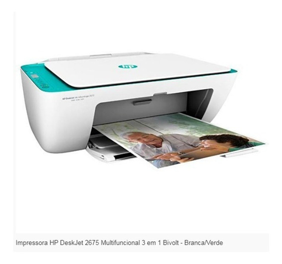 Impressora Multifuncional Copiadora Scanner Hp 2675 Wi Fi