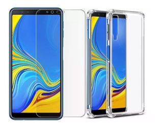 Capa Antishock + Pelicula Gel Para Samsung Galaxy A7 2018