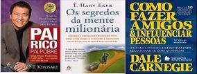 Kit 3 Livros Pai Rico Segredos Da Mente Como Fazer Amigos