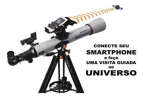 Telescópio Celestron Com Autoguide Smartphone Explorer 80