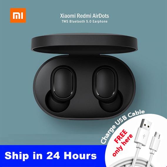 Fone De Ouvido Airdots Xiaomi Redmi E Bónus Free Cable Usb