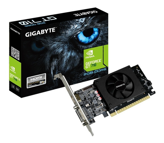 Placa De Vídeo Geforce Gt 710 2gb Ddr5 Gigabyte Gt710 Hdmi