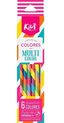 Lapices De Colores Multi Color Kiut 6pz