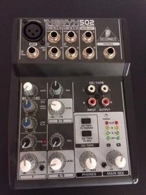 Mesa De Som Behringer Xenyx 502 - Mixer Com Fonte