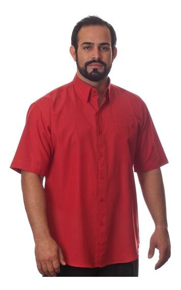 6 Camisas Sociais Manga Curta Plus Size Tamanhos Especiais