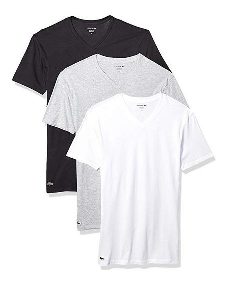 Kit Com 3 Camisetas Lacoste ( Original )