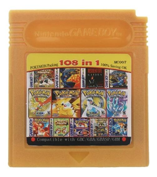 Cartucho Fita 108 Em 1 Game Boy Color Gbc Multi Jogos
