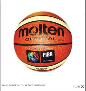 Balon De Basquetball De Semi Cuero Molten 7