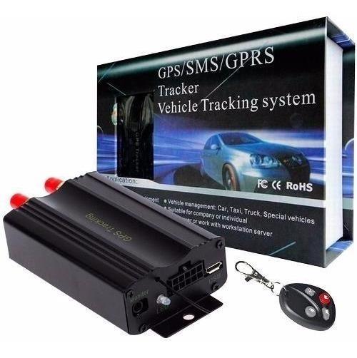 Rastreador Bloqueador Gps Veicular Tk103 Com Controle Remoto
