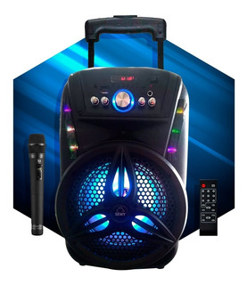 Parlante Portatil Bluetooth Sewy 25w Luces Led + Microfono