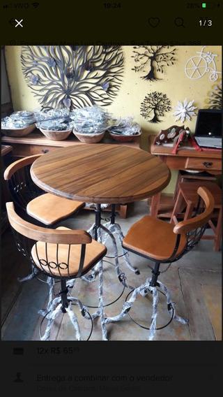 Mesa Bistrô + 6 Banquetas Arabesco + Paneleiro + Cadeira + B
