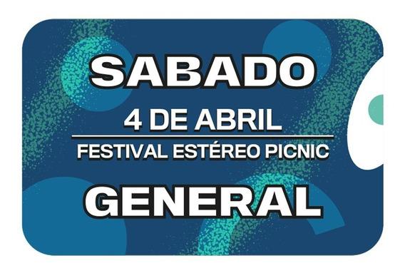 Boleta General Día Sábado Festival Estéreo Picnic 2020