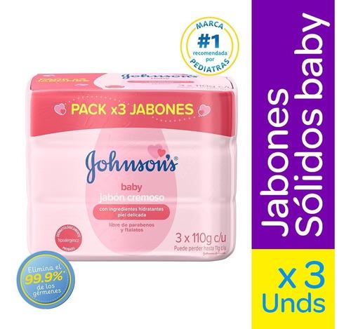 Jabon Johnsons Baby Cremoso 110g X 3und