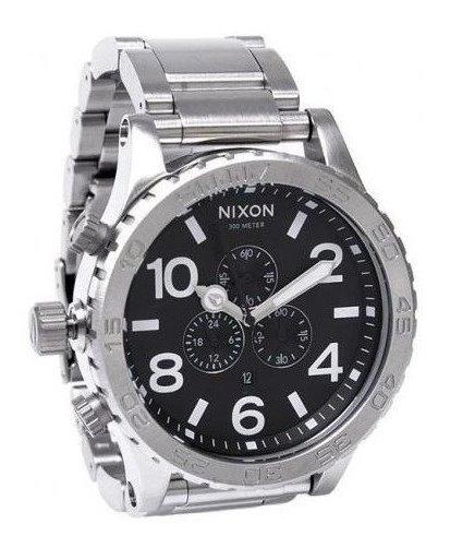 Relógio Ma08 Nixon 51-30 Prata Preto Lançamento 2019