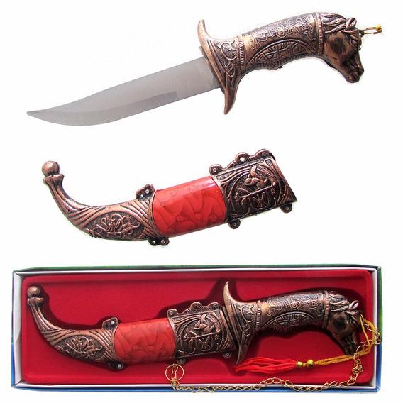 Adaga Cor Bronze Punho De Cavalo 21cm