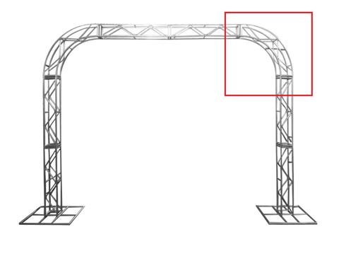 Imagem 1 de 4 de Treliças Box Truss Q20 Aço Peça Curva 0,75m - Lourenço