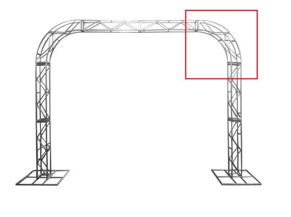 Treliças Box Truss Q20 Aço Peça Curva 0,75m - Lourenço
