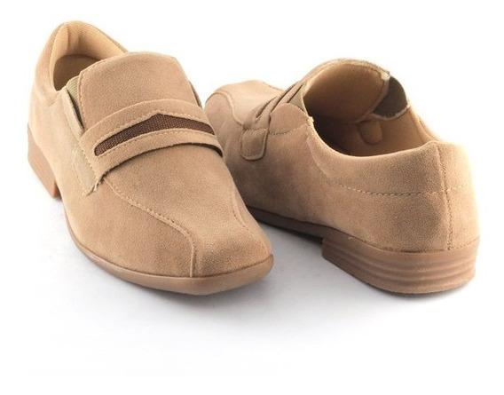 Sapato Infantil Castanho Social Masculino Nº26-35