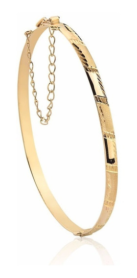 Pulseira Pega Ladrão Bracelete Engate Corrente Ouro 10k