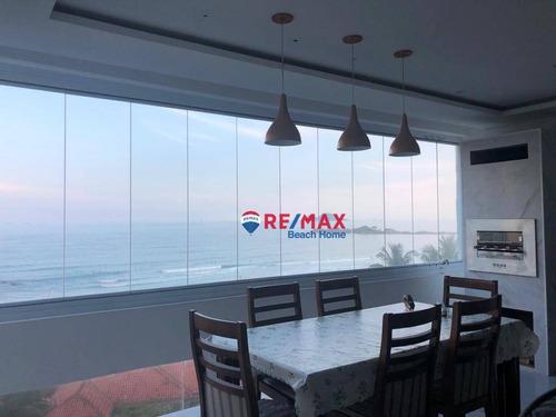 Imagem 1 de 19 de Frente Total Ao Mar Nas Pitangueiras Com Varanda Gourmet, 04 Dormitórios E 01 Vaga De Garagem - Ap3115