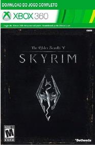 Jogo Skyrim 5 Xbox 360 Codigo 25 Digitos Original