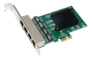 Placa De Rede Realtek 4 Eth Gigabit Ethernet Pc Servidor