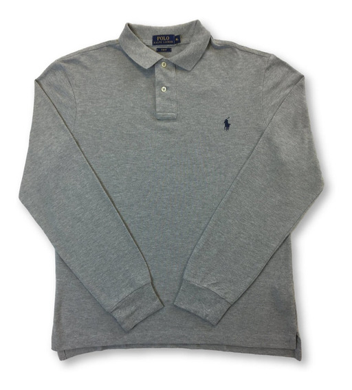 Polo Ralph Lauren Slim Fit Manga Larga Polo De Algodón En G