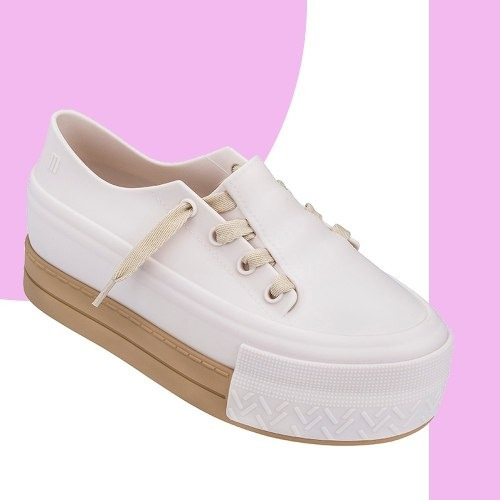Melissa Ulitsa Sneaker Plataform Bege Rosa Original + Nf